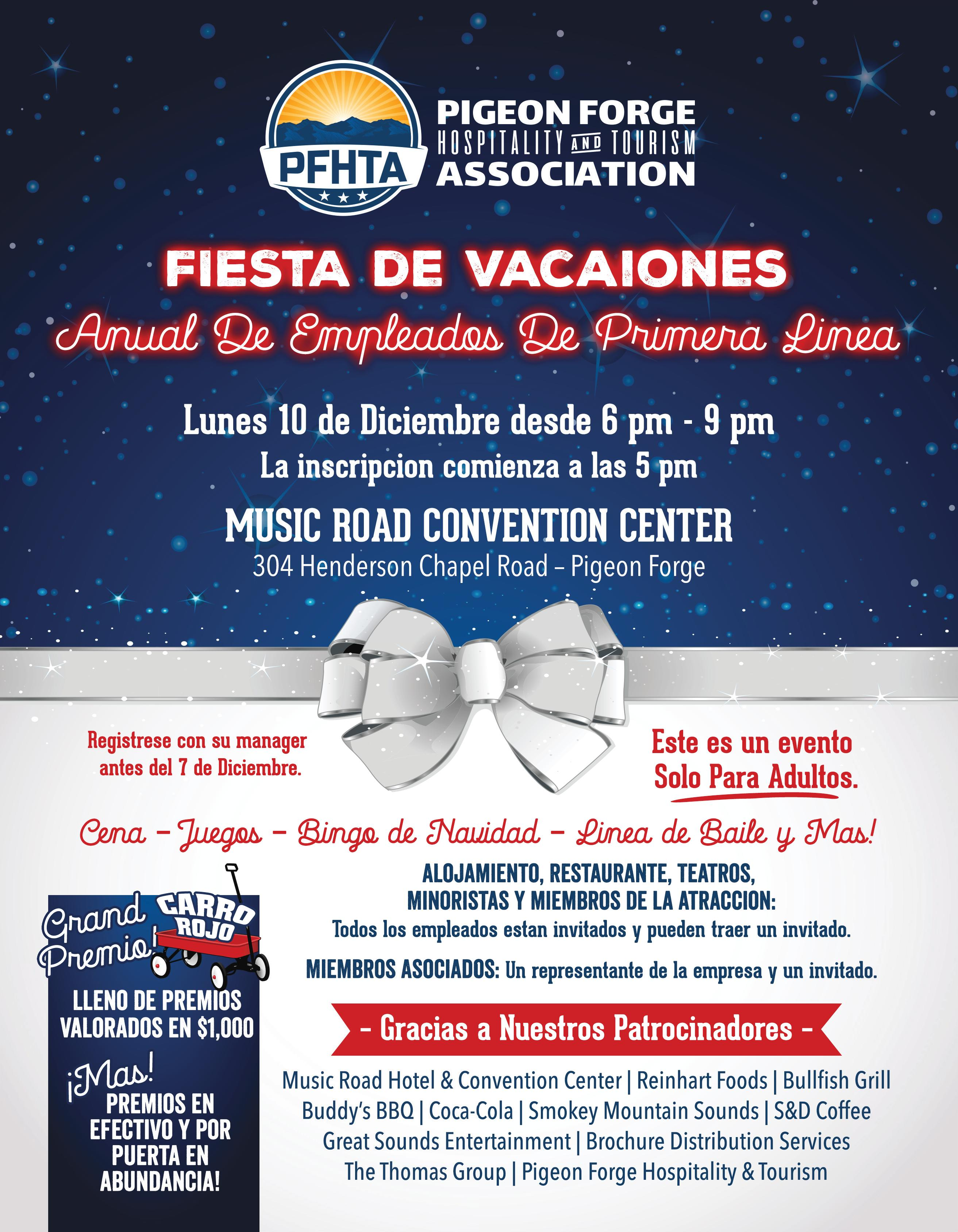 Frontline Employee Annual Holiday Party! - Pigeon Forge